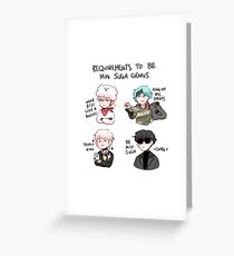 BTS: HOW TO BE MIN SUGA  Greeting Card