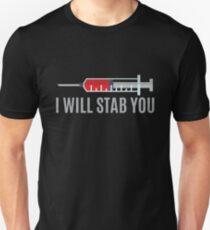 Camiseta ajustada Te apuñalaré enfermera | Enfermera camisetas Divertido | Apreciación de la enfermera | camisas para enfermera | enfermeras unidas camisa | cotizaciones de enfermera | graduación de enfermera | regalo de enfermeras | camiseta de enfermera