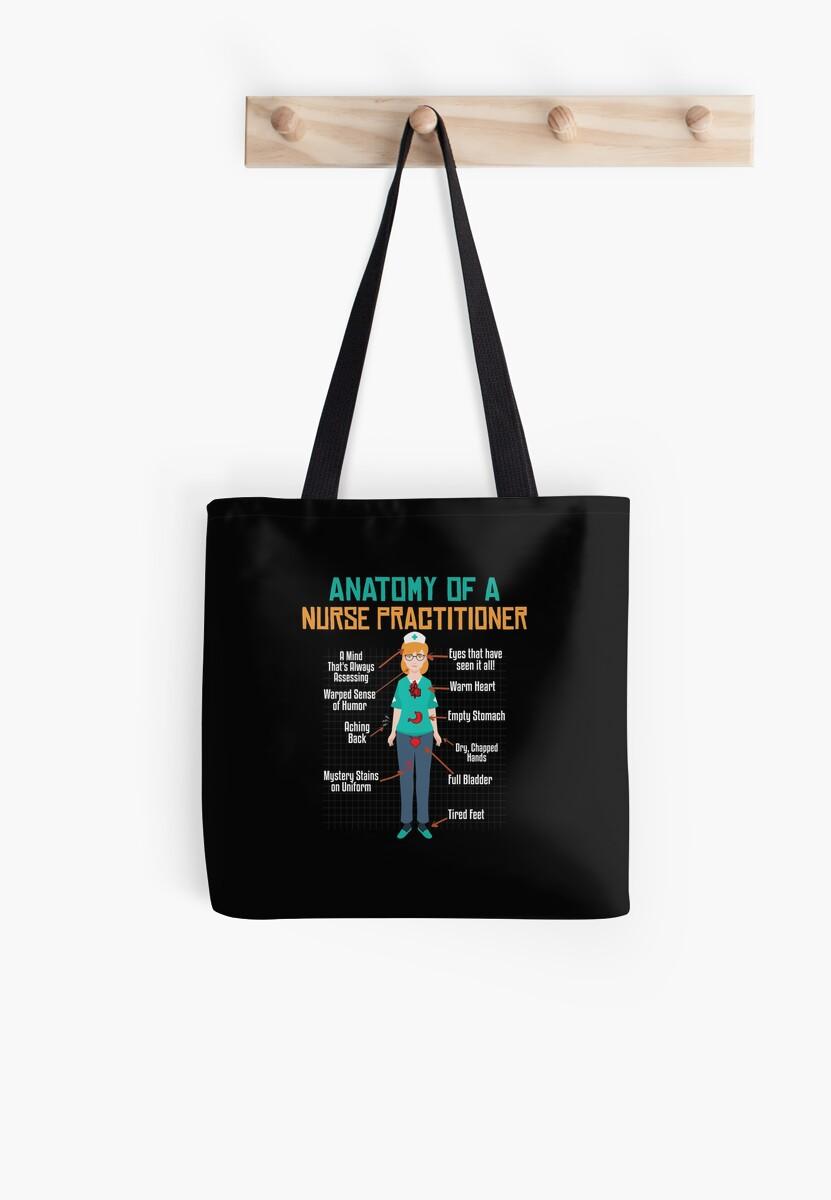 Bolsas de tela «Anatomía de una enfermera \ | Enfermera camisetas ...