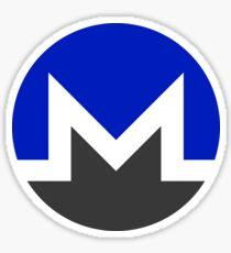 Monero XMR Crypto Currency Icon - Blue Sticker
