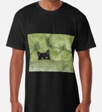 Green-Eyed Girl On Papason Chair Long T-Shirt