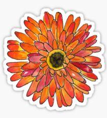 Orange Gerber Daisy Sticker
