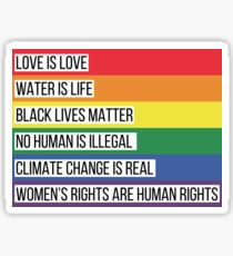 Intersectionality Rainbow Advocacy Flag Sticker