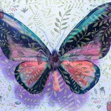 Butterfly Garden Fantasy by posyrosie