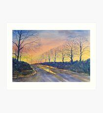 """Sunset on Sledmere Road"" Art Print"