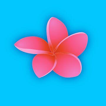 Pink Plumeria Blossom by bonnie-follett