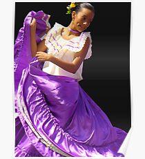 Folklore Dancer, Ciudad Colon, Costa Rica Poster