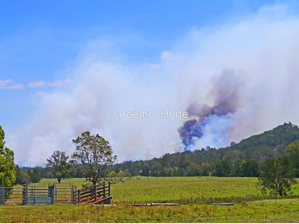 Bushfire Coming by Graeme  Hyde