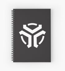 Vergeron Logo Dark Gray Spiral Notebook