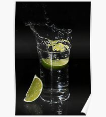 Lime Splash Poster