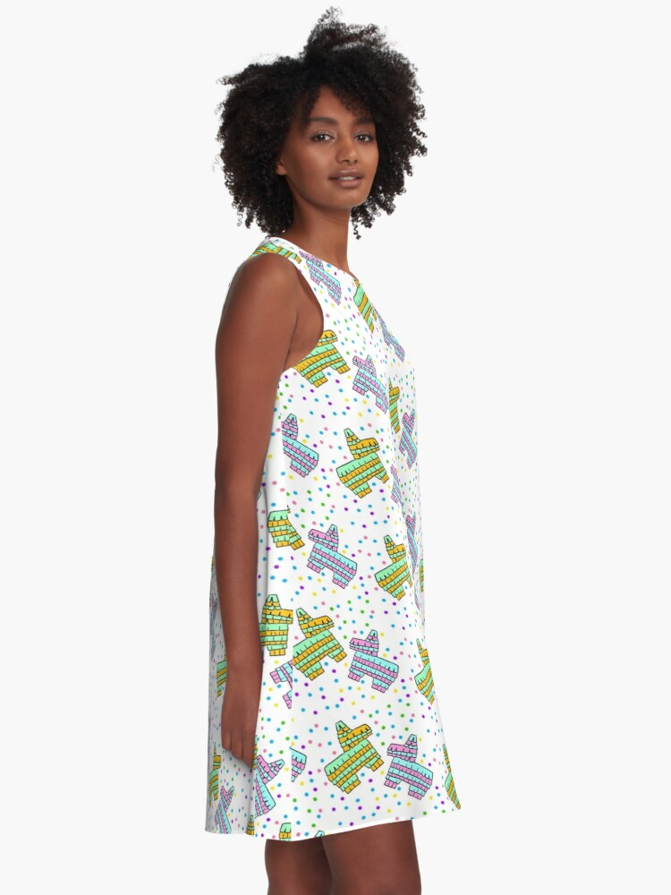Alternate view of Piñata Party Time! A-Line Dress