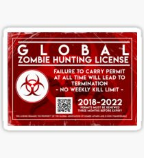 ZOMBIE HUNTING LICENSE Sticker