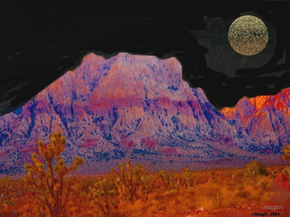 Night in Red Rock Canyon by magins