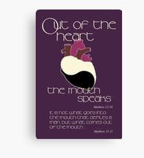 Out Of The Heart Canvas Print