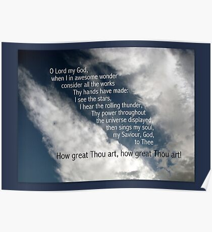 How great Thou art! Poster