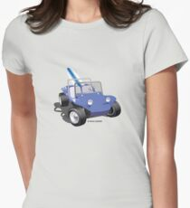 Dune Buggy Manx w Surfboard Womens Fitted T-Shirt