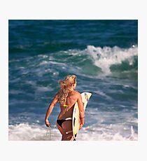 Pipeline Surfer 5 Photographic Print