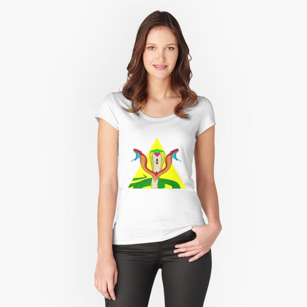 Kobra Tailliertes Rundhals-Shirt