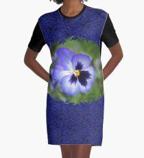 Luminous Pansy Graphic T-Shirt Dress