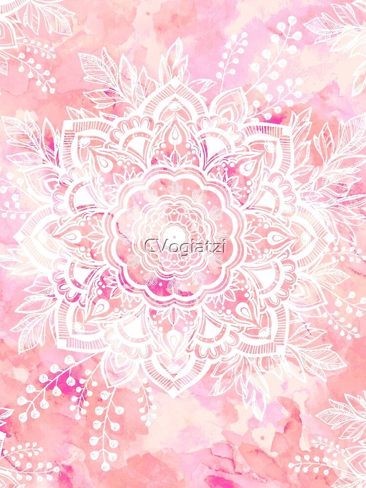 Queen Starring of Mandalas Pink by CVogiatzi