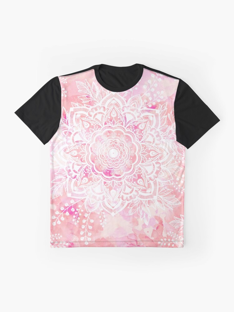 Alternate view of Queen Starring of Mandalas Pink Graphic T-Shirt