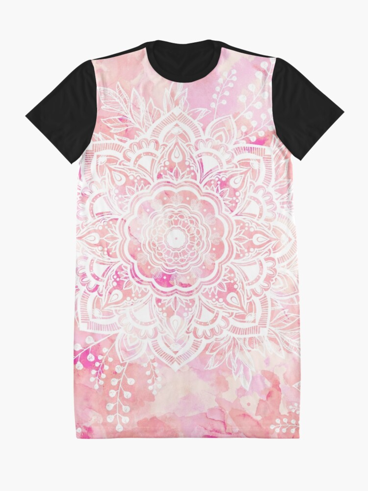 Alternate view of Queen Starring of Mandalas Pink Graphic T-Shirt Dress