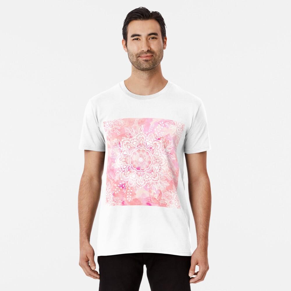 Queen Starring of Mandalas Pink Premium T-Shirt
