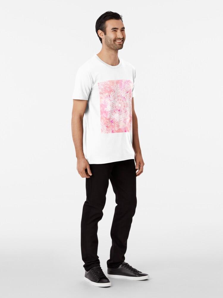 Alternate view of Queen Starring of Mandalas Pink Premium T-Shirt
