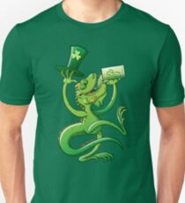 Saint Patrick's Day Iguana Slim Fit T-Shirt