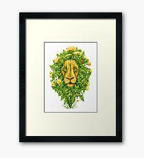 The Dandy Lion Framed Print