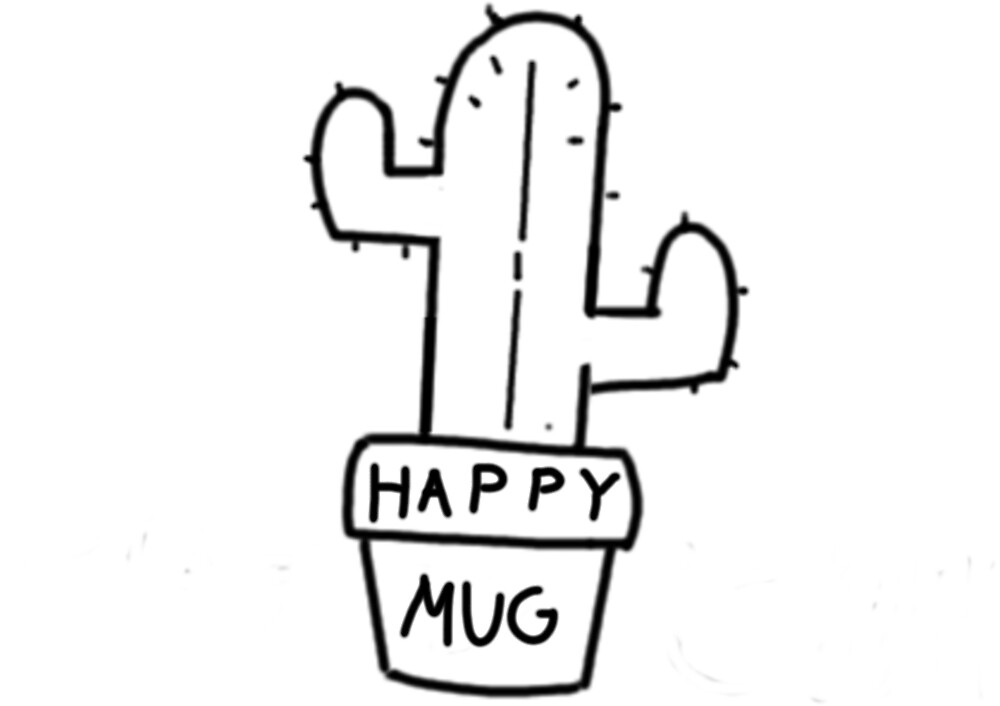 Happy Mug Cactus by Pinker Days