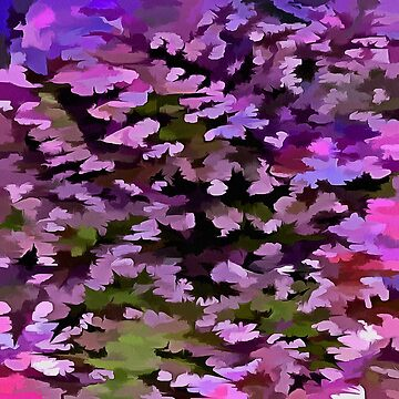 Foliage Abstract Pop Art In Ultra Violet and Purple by taiche