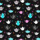 Fun vintage teapots by Michelle Walker