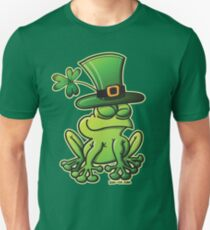 Saint Patrick's Day Frog Slim Fit T-Shirt