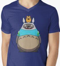 Finn Totoro Men's V-Neck T-Shirt