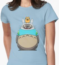 Finn Totoro Womens Fitted T-Shirt