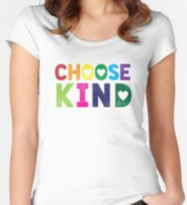Choose Kind T Shirt - Anti-Bullying - Heart T-Shirt - Rainbow Women's Fitted Scoop T-Shirt