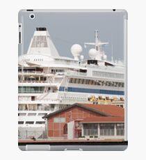 cruiser ship at the port iPad Case/Skin