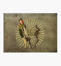 Fly High Dieselpunk Woman Photographic Print