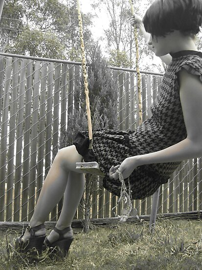Houndstooth Knit Bubble Dress by Brooke Hyrapiet