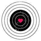 Womens Love Heart Target Design by SpikyHarold