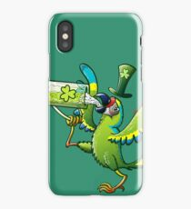 Saint Patrick's Day Macaw iPhone Case/Skin
