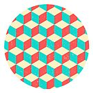 Cool Blocks Circle Optical Illusion Abstract Design by SpikyHarold