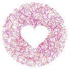 Scribbly Heart Shape Doodled Design by SpikyHarold