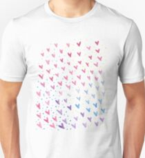 Happy hearts hand painted watercolour Unisex T-Shirt