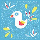 Abstract Bird In Spring by Boriana Giormova