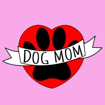 Dog Mom Paw And Red Heart Drawing by Almdrs