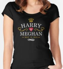 3d5ef0d4c Harry & Meghan - Royal Wedding Fitted Scoop T-Shirt