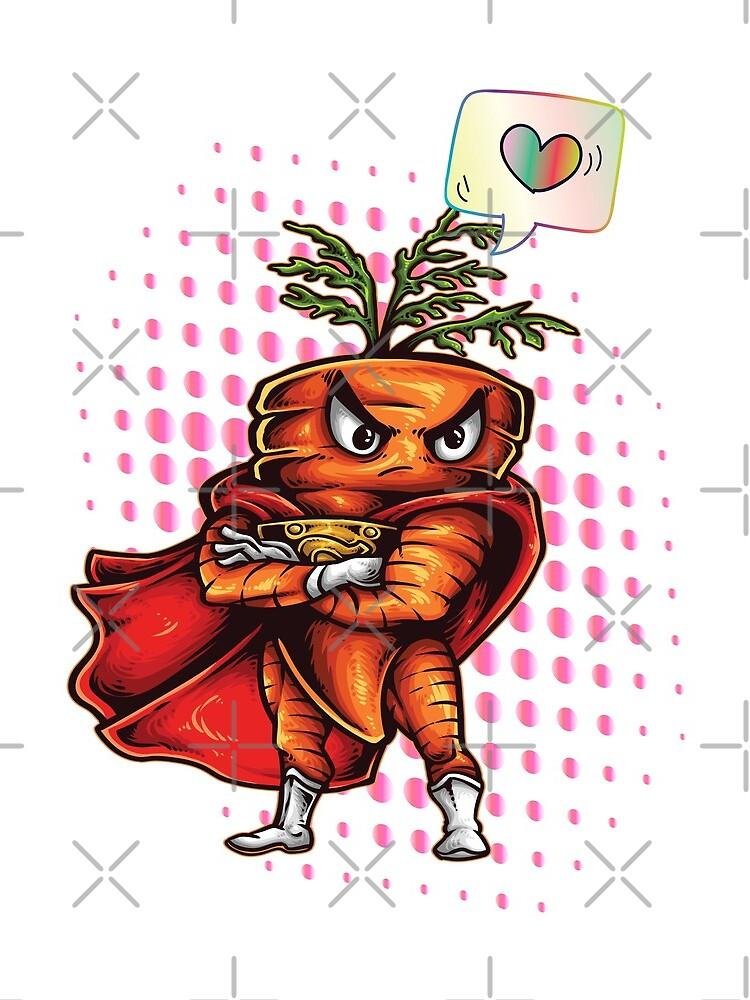 Verärgerte Karotte liebt Symbol Foodietoon von ProjectX23