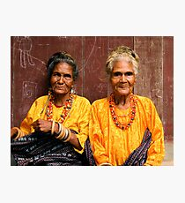 Welcoming Village Elders Photographic Print